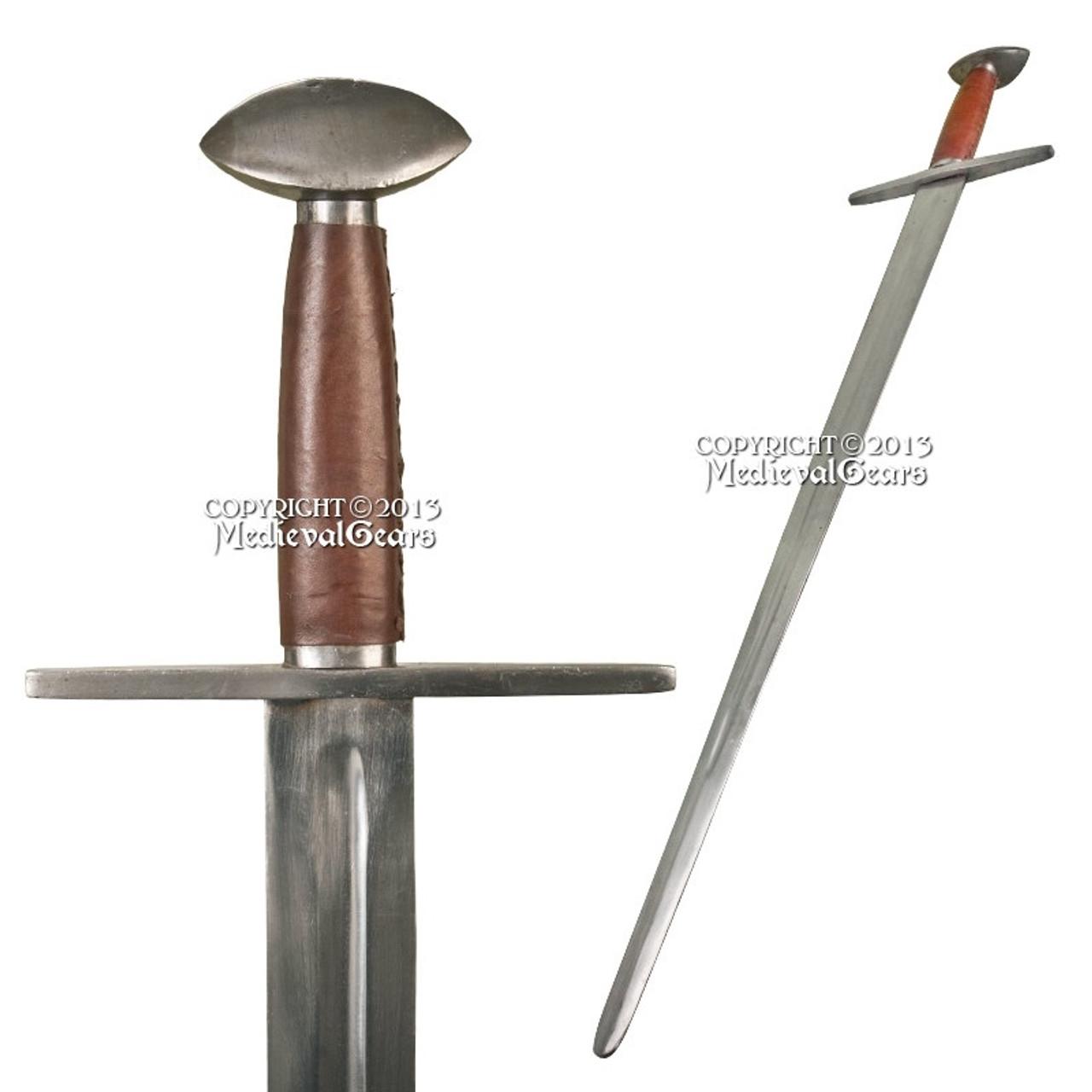 Medieval European Knights Arming Crusader Sword