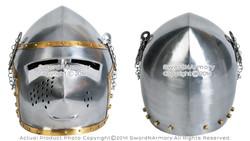 Functional Medieval Pigface Bascinet Helmet Combat Battle Hound Skull 16G SCA