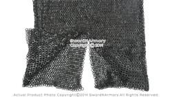 Large Black Functional Hauberk Medieval Chainmail Flat Ring Wedge Riveted SCA