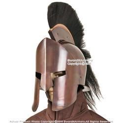 Greek Spartan King 300 Crested Helmet w/ Copper Finish & Liner Reenactment LARP