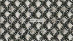 Large Half Sleeve Haubergeon High Tensile Wire Butted Medieval Chain Mail 9mm16G