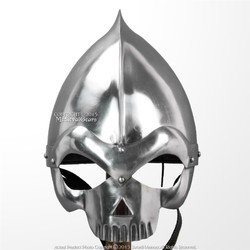 Fantasy Medieval Wearable Knight Skull Crusher Helmet 20G Steel LARP Costume