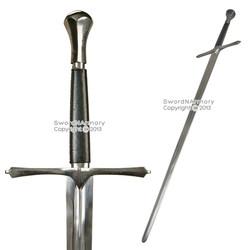 Handmade Full Tang Knights Crusader Great Sword Peened Tang Carbon Steel LARP