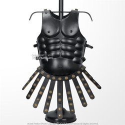 Medieval Roman Body Armor Breast Plate Muscle Cuirass 20G Steel w/ Leather Apron