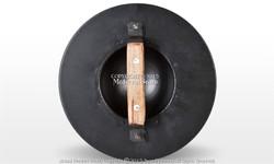 "Black 14G Steel 11"" Functional Roman Archer Medieval Combat Buckler Shield SCA"