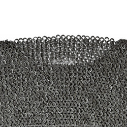 XL Black Stainless Steel Medieval Chainmail Shirt Flat Ring Riveted SCA LARP