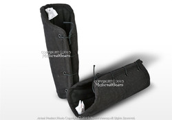 Black Cotton Arm Protector Padded Bracers Medieval Renaissance Costume SCA LARP