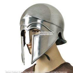 Spartan Greek Corinthian Helmet Costume Armour LARP with Liner Chin Strap