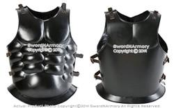 Spartan Roman Black Steel Muscle Breastplate Cuirass Medieval Armor LARP Costume
