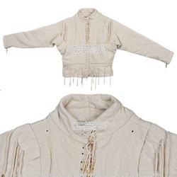 15th Century Ecru XL Arming Doublet Jacket Medieval Costume SCA LARP Reenactment