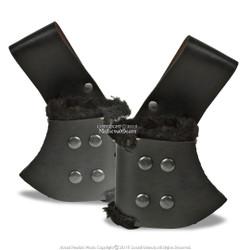 Black Medieval Genuine Leather Handed Sword Frog Holder Renaissance LARP