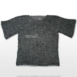 Titanium Medium Size Medieval Chainmail Shirt  Flat Ring Round Riveted SCA LARP
