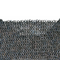 Titanium XL Size Medieval Chainmail Shirt  Flat Ring Round Riveted SCA LARP