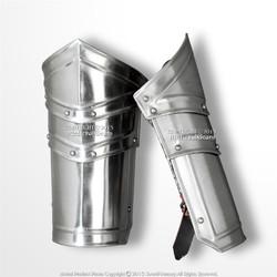 Medieval Type D Steel Plate Armor Arm Bracer Set 18 Gauge Steel LARP Cosplay
