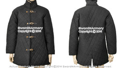 Extra Large Medieval Black Gambeson Type II Aketon Jacket Padded Armor Coat Reenactment SCA