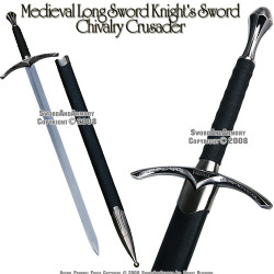 """38.5"""" Long Medieval Crusader Knights Wizard Arming Sword Chivalry with Scab"""