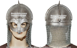 Functional Viking Gjermundbu Helmet with Aventail Chainmail Battle Ready SCA