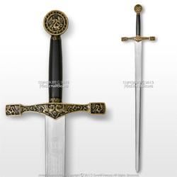 "44"" Foam Excalibur  Knights Crusader Long Sword LARP Renaissance Costume"