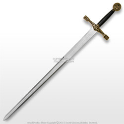 "44"" Foam Excalibur  Knights Crusader Long Sword LARP Renaissance Costume"