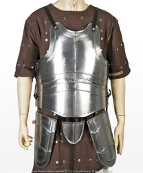 Medium Medieval 20G Steel Breast Plate Body Armor w/ Tassets Fluted Cuirass LARP