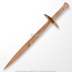 "28.5"" Halfling Fantasy Wooden Medieval Short Sword Dagger with Detail Engraving"