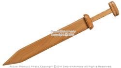 Solid Mango Wood Roman Gladius Gladiator Practice Sword with Square Pommel