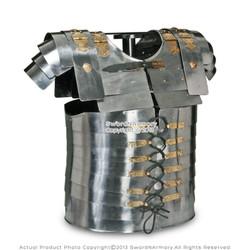 Lorica Segmentata Roman Legionare Armor with 20G Steel Leather Strap for LARP SCA