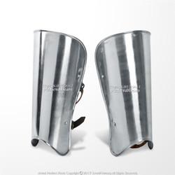 A Pair Medieval Steel Plate Armor Arm Bracer Set LARP Costume Cosplay