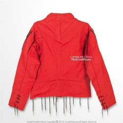15 Century Red M Medieval Arming Doublet Jacket Functional Gambeson SCA LARP WMA