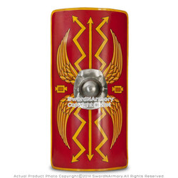 "Fully Fucntional 35"" Medieval Roman Armour Legion Scutum Shield SCA LARP Costume"