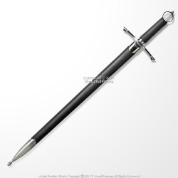 Irish Ring Hilt Celtic Medieval Crusader Sword With Scabbard