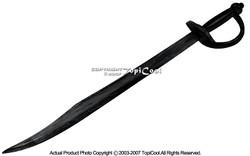 "30"" Black Wooden Scimitar Pirates Cutlass Broad Sword Cosplay Costume"