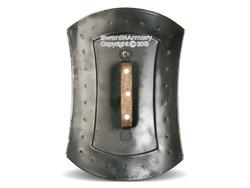 16 Gauge Steel Retangle Roman Archer Buckler Shield w/ Wood Handle LARP SCA