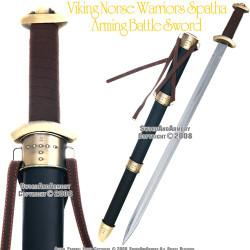 Viking Norse Warrior Spatha Arming Medieval Battle Sword