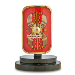 Mini Medieval Roman Infantry Legion Scutum Steel Shield Costume Armour Souvenir