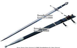 Two Handed Medieval Knight Long Strider Sword w/ Dagger