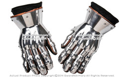 Medieval Functional Metal Gloves Hourglass Gauntlets 16G Large Size SCA LARP