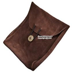 Medieval Renaissance Pirate Fair Costume Suede Leather Pouch Satchel Bag LARP BR