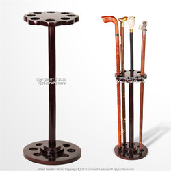 "22"" Tall Solid Mango Wood 8 Gentlemen's Walking Cane Holder Stand Display Rack"