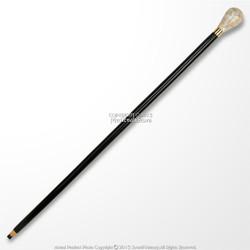 "36"" Handmade Sheesham Wood Gentleman Walking Cane with 3"" Mother of Pearl Handle"