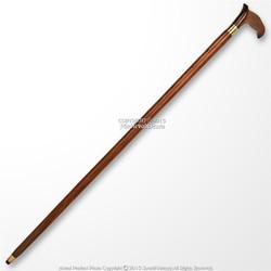 "37"" Handmade Sheesham Wood Gentleman Walking Cane Stick with Brass Neck"