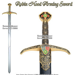 "40"" Robin Hood Locksley Medieval Arming Sword With Scabbard"