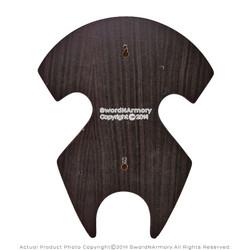 Wood Round Deluxe Display Plaque Hanger for Medieval Crusader Long Sword Dagger