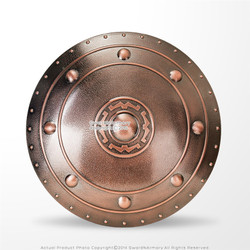 Bronzed Polypropylene Functional Medieval Shield for WMA Sparring Training LARP