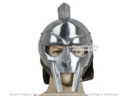 Roman Gladiator Maximus Helmet Armour w/ Liner No Spikes LARP Reeactment Costume