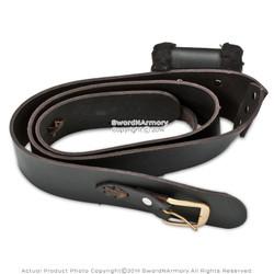 Genuine Leather Sword Frog Belt Medieval Right Hand Baldric SCA LARP Renaissance