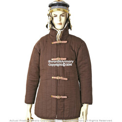 Small Size Brown Gambeson Type IV Medieval Padded Armour Coat SCA WMA Jacket