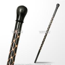"35.5"" Hand Carved Black Eucalyptus Wooden Cane Gentleman Walking Stick"