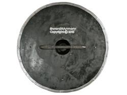 """18 Gauge Steel 29"""" Diameter Functional Viking Solid Wooden Circular Shield SCA"""