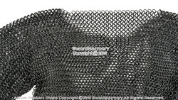 Black Hauberk Full Sleeves Chainmail Shirt Wire Butted LARP Renaissance Costume